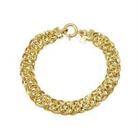 צמיד זהב צהוב ולבן| שני צמידים בצמיד אחד