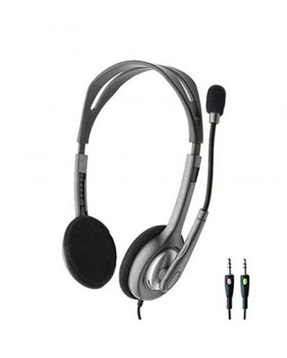 אוזניות ומיקרופון חוט Logitech Stereo Headset H110