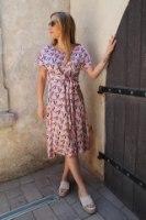 שמלת שילה ורודה גיאומטרית