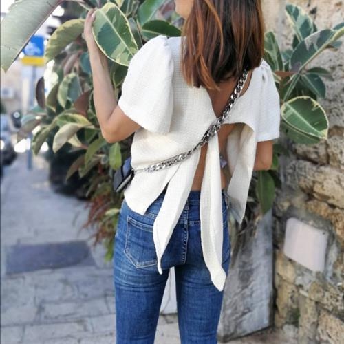 חולצת פרנצ׳סקה גב קשירה