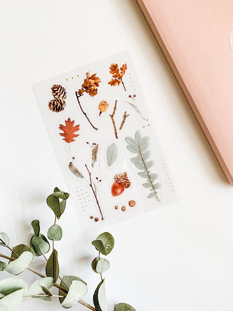מדבקות פרחים- אהבה בסתיו