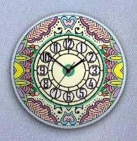 שעון קיר מעוצב, זכוכית אקרילית, דגם 2028  TIVA DESIGN