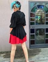 חולצת ערב מטורפת מהאייטיז שחורה מידה M