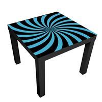 1 יח' טפט דביק מותאם לשולחן (LACK) ספירלה כחול ושחור