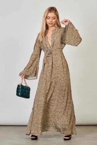 שמלת לילוש כאמל פרחונית