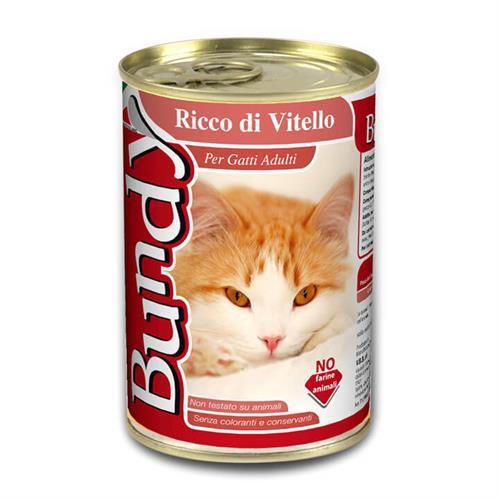 שימורים לחתול בנדי (Bundy) - פטה עגל 400 גרם