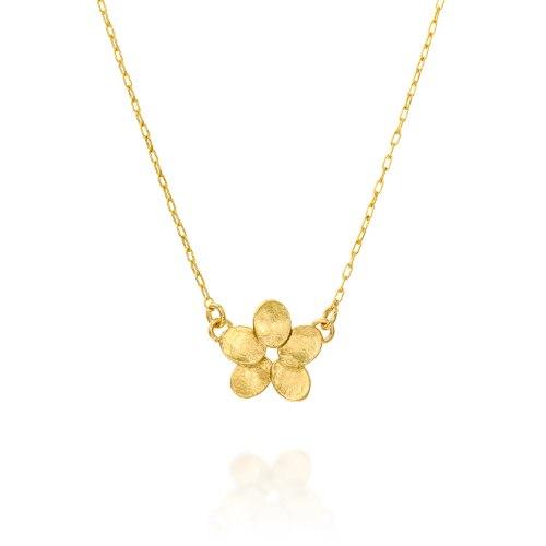 שרשרת גולדפילד עם תליון פרח קטן מצופה זהב נועה טריפ noa tripp
