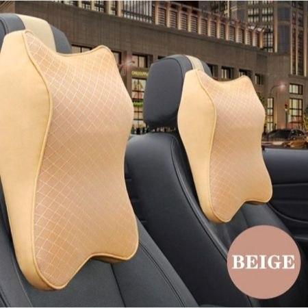 כרית למנוחת הצוואר מתחברת למושב הרכב