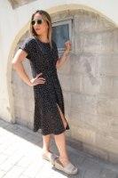 שמלת שילה שחור קונפטי