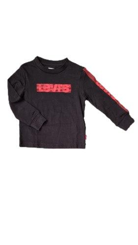 חולצת טישרט שחורה לוגו  אדום LEVIS (2-13)