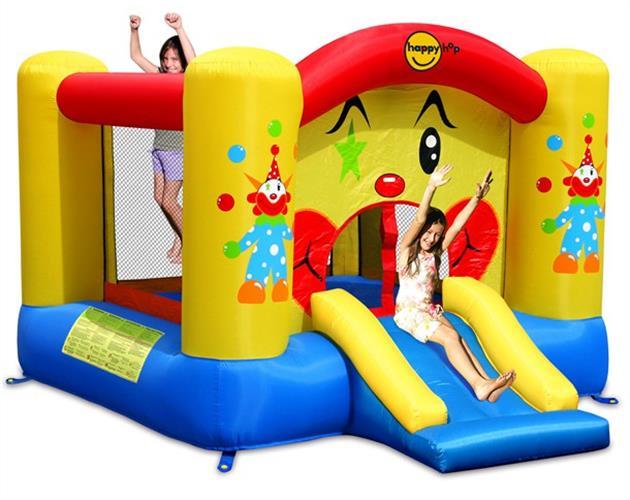 עותק של מתקן קפיצה מגלשת הליצן וחישוק הפי הופ - 9201 - Clown Slide And Hoop Bouncer Happy Hop