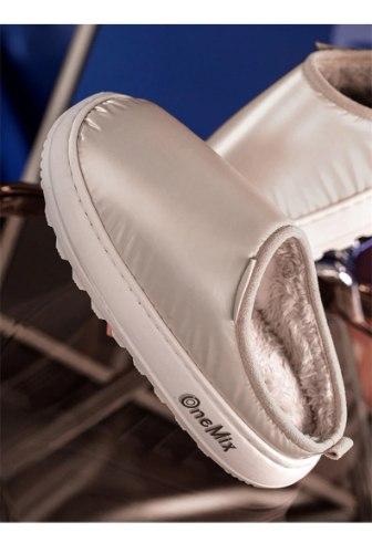 ONEMIX - כפכפים מעור לגברים ונשים סולייה למניעת החלקה, קטיפה פנימית מפנקת, עמיד למים.