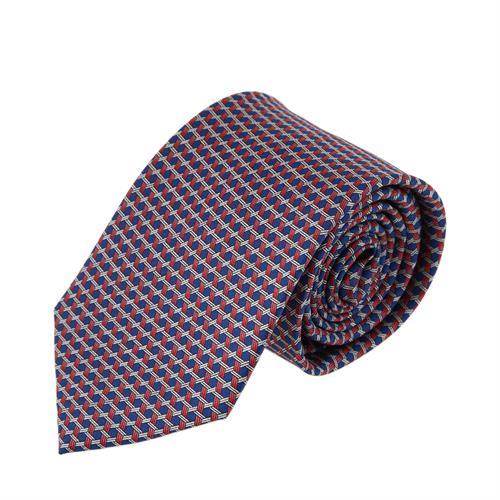 עניבה דגם מגן דוד כחול אדום