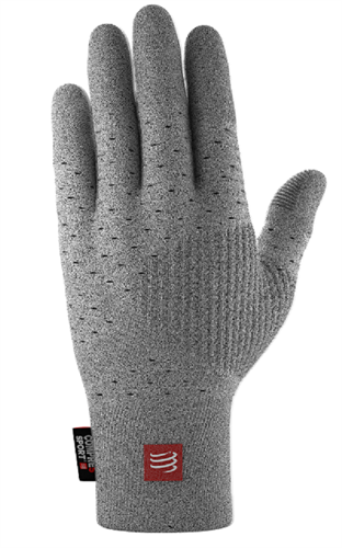 כפפות תרמיות COMPRESSPORT צבע אפור או שחור