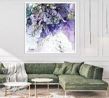 תמונה סגולה לסלון, תמונת אבסטרקט לסלון סגולה
