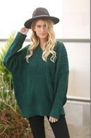 סוודר ארוך דוגמת סוידר אוברסייז