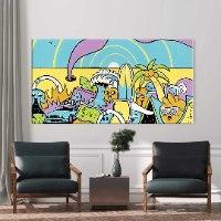 ציור פןפ ארט צבעוני למשרד של האמן כפיר תג'ר