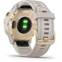 שעון דופק Garmin Fenix 6s Pro Solar Light Gold with Light Sand Band