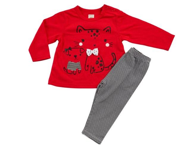 חליפת מעבר חתול אדום מכנס לייקרה
