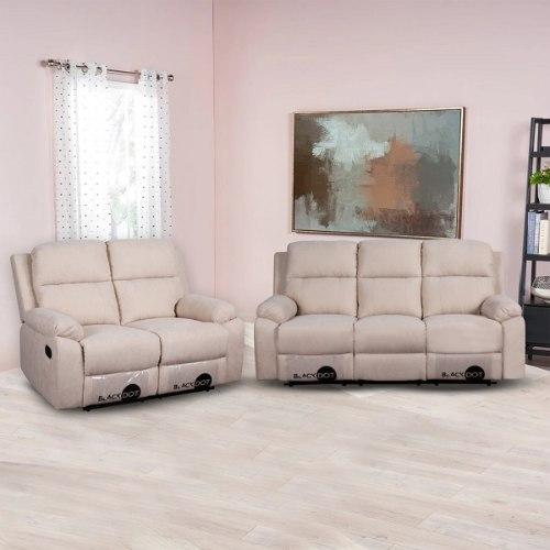 ספה 2+3 מושבים סיאסטה בד בז'
