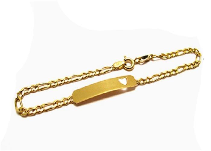 צמיד זהב לבת, מתנה לבת מצווה, צמיד זהב חריטת שם