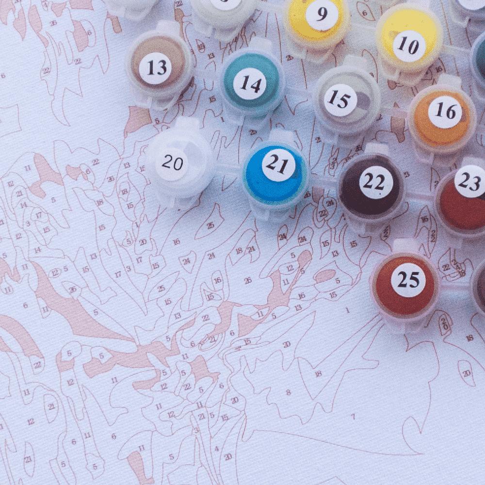 צביעה לפי מספרים - פרחים אלגנטיים באגרטל