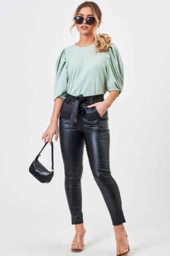 חולצת  ערב אלין פיץ/סגול/ירוק