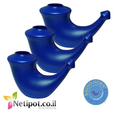 נטיפוט ריינו הורן מארז שלישייה צבע כחול