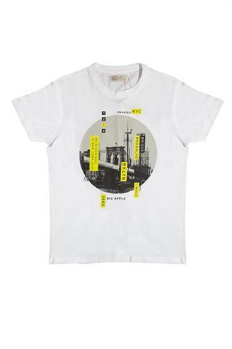 חולצה עם נגיעות צהוב