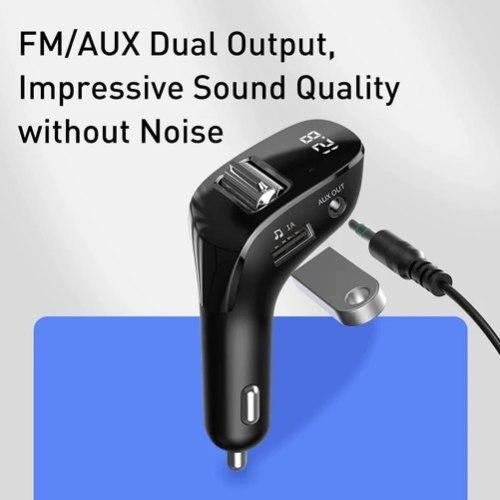 משדר fm לרכב דגם F40 המשודרג לשמיעת מוזיקה+בלוטוס+aux