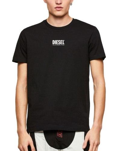 צבע שחור- T-SHIRT DIESEL LOGO