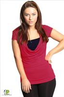 חולצת הנקה רבידה שרוול קצר - NursingAnywear