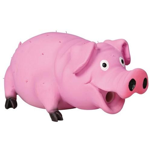 """צעצוע חזיר לטקס ורוד 15 ס""""מ"""
