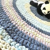 שטיחים סרוגים, שטיח סרוג, שטיח צבעים יוניסקס, צבעים לחדר משותף, שטיח עגול עבודת יד, שטיחים, שטיחים סרוגים, שטיחים מעוצבים