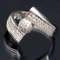 טבעת כסף משובצת זרקונים RG7417