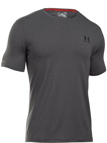חולצת אימון אנדר ארמור לגבר מנדפת זיעה 1257616-090 LEFT CHEST LOCKUP Under Armour