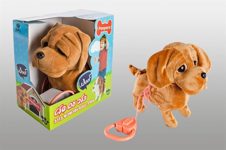 כלב הולך עם רצועה פייפרס