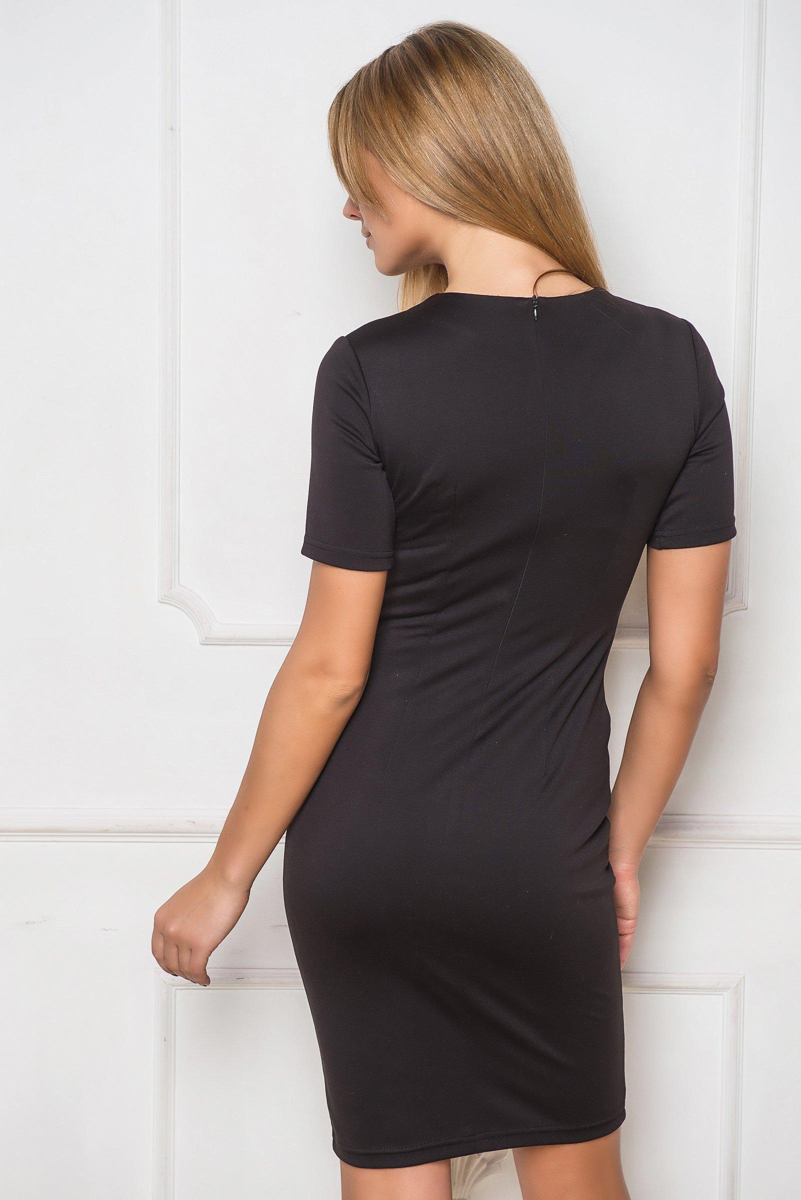 שמלת מיני מחשוף קשירה