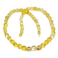 שרשרת ענברים בלטי מקורי לנשים צבע לימון M2017