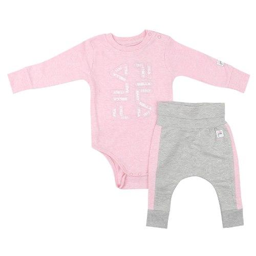 חליפת תינוקות FILA ורוד/אפור  - מידות NB עד 9 חודשים