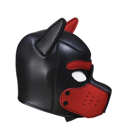 ראש כלב בצבע שחחור אדום