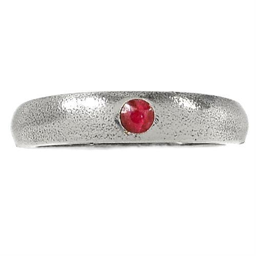 טבעת כסף משובצת אבן רובי אדומה  RG5725 | תכשיטי כסף 925 | טבעות כסף