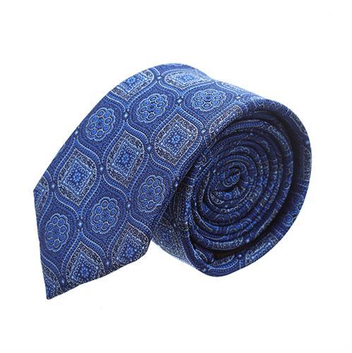 עניבה פרחים מעויינים כחול רויאל