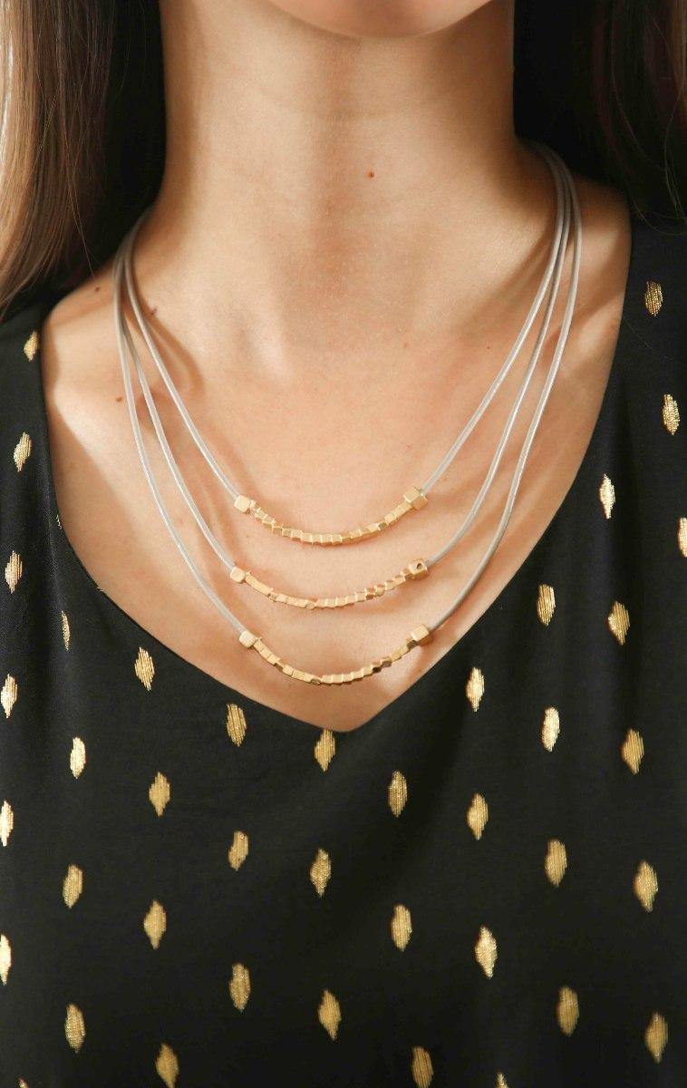 שרשרת זהב שלוש שכבות