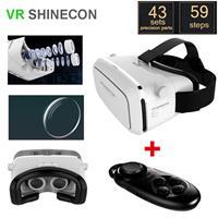 ערכת מציאות מדומה VR SHINECON 3D למכשירי סלולר כולל שלט bluetooth