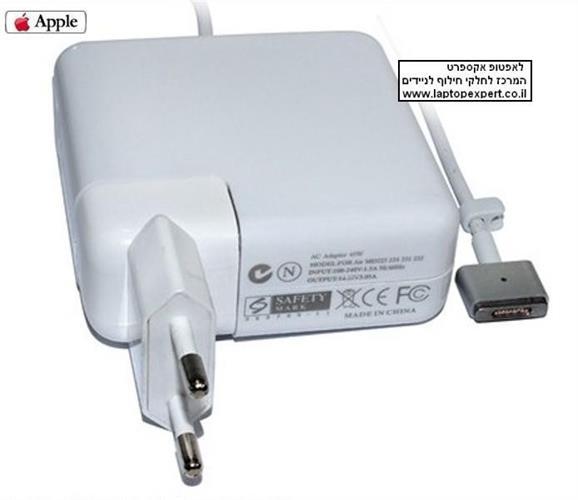 מטען אפל הדגם החדש !! Apple MacBook Air A1345 A1465 A1436 A1466 magsafe 2 pin 14.85V 3.05A Ac Power Adapter