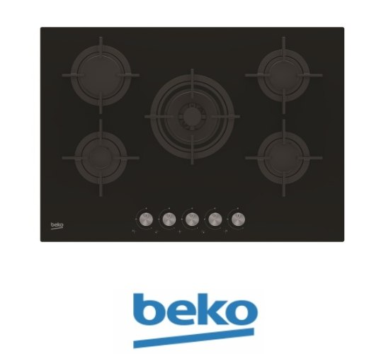 """beko כיריים גז 75 ס""""מ דגם: HILW75220S"""