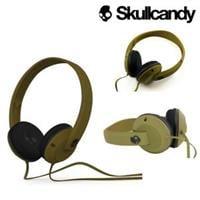 אוזניות קשת עם מיקרופון ירוק צבאי  Skullcandy UPROCK