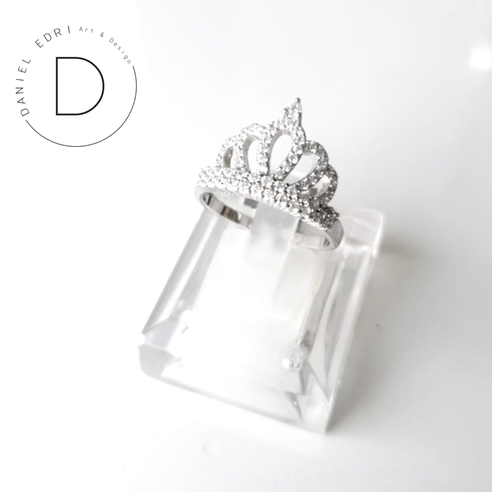 טבעת כתר- כסף 925