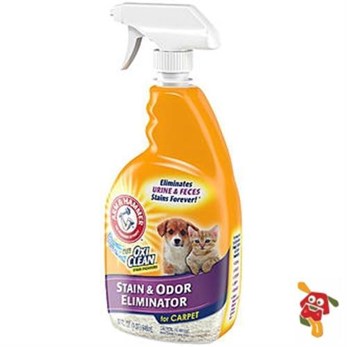 """תרסיס מנקה שטיחים-מנקה כתמי שתן וצואה 946 מ""""ל"""